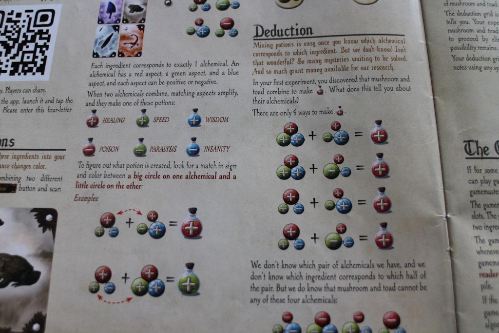 Ohjekirja opastaa selkeästi, kuinka juomien väri & varaus muodostuu.