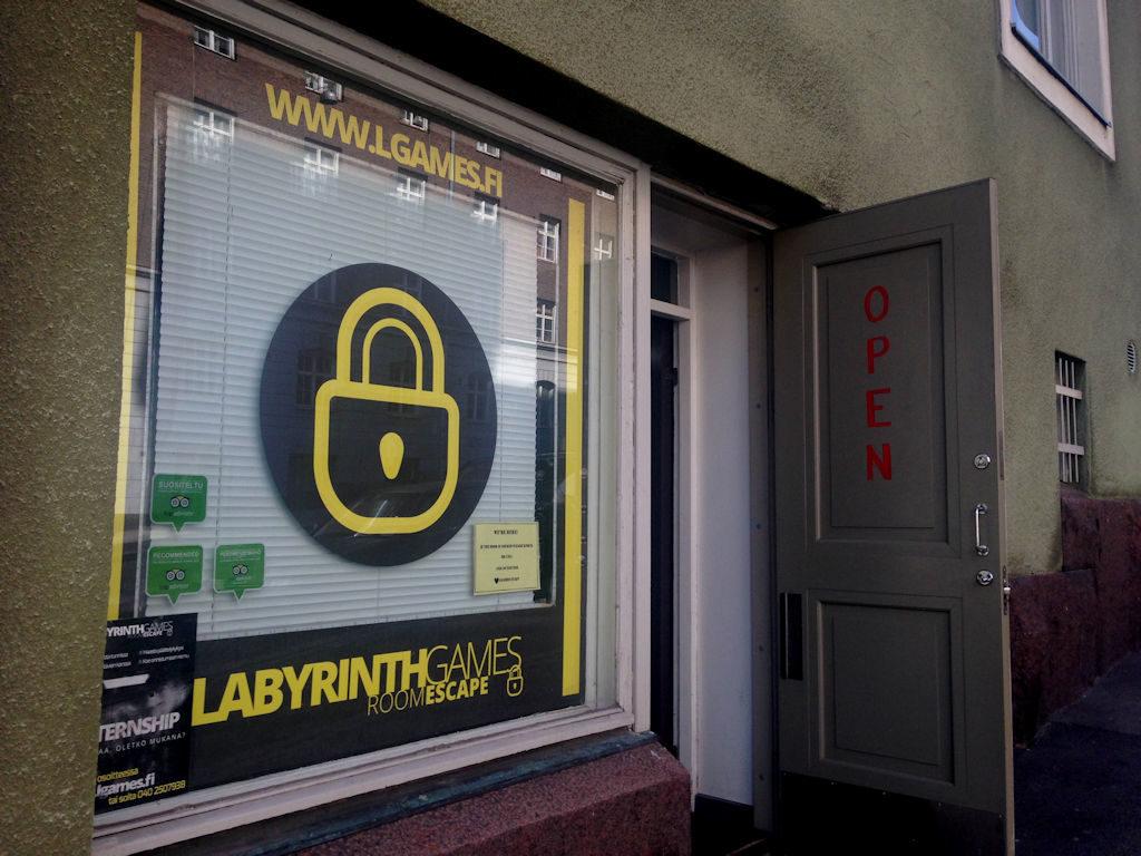 Yksi lukuisista Helsingin pakopelejä tarjoavista yrittäjistä: Labyrinth Games.