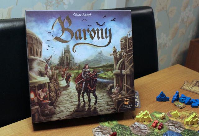 Baronyn kansikuvataide oli kuulemani mukaan syy siihen, että peliä yhteen lautapelikauppaan ylipäätään hankittiin myyntiin.