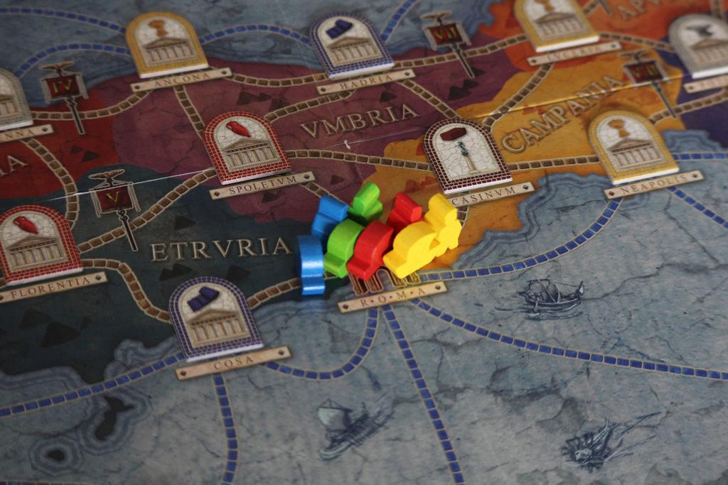 Kaikki tiet vievät Roomaan - ja kaikki pelit Concordiassa alkavat Roomasta. Näin riippumatta siitä, kumpaa pelilaudan puolta käytetään.