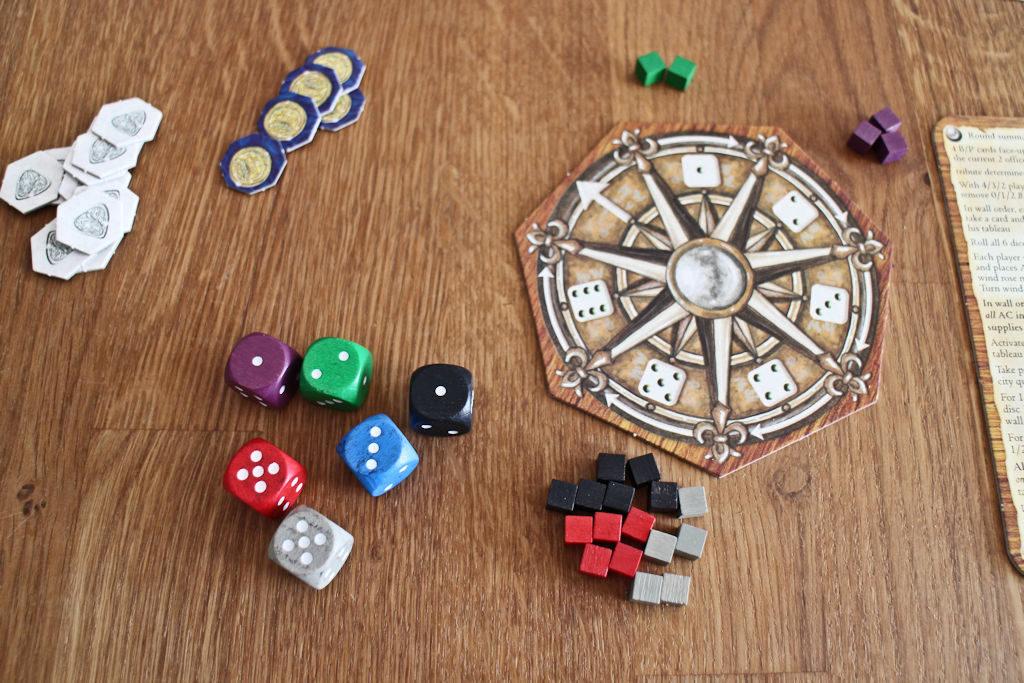 Pelin nerokkain idea: valitse kaksi noppaa ja saat sen mukaisesti kuutioita, mutta mitä enemmän kuutioita otat, sitä myöhemmin ne saat käyttöösi.