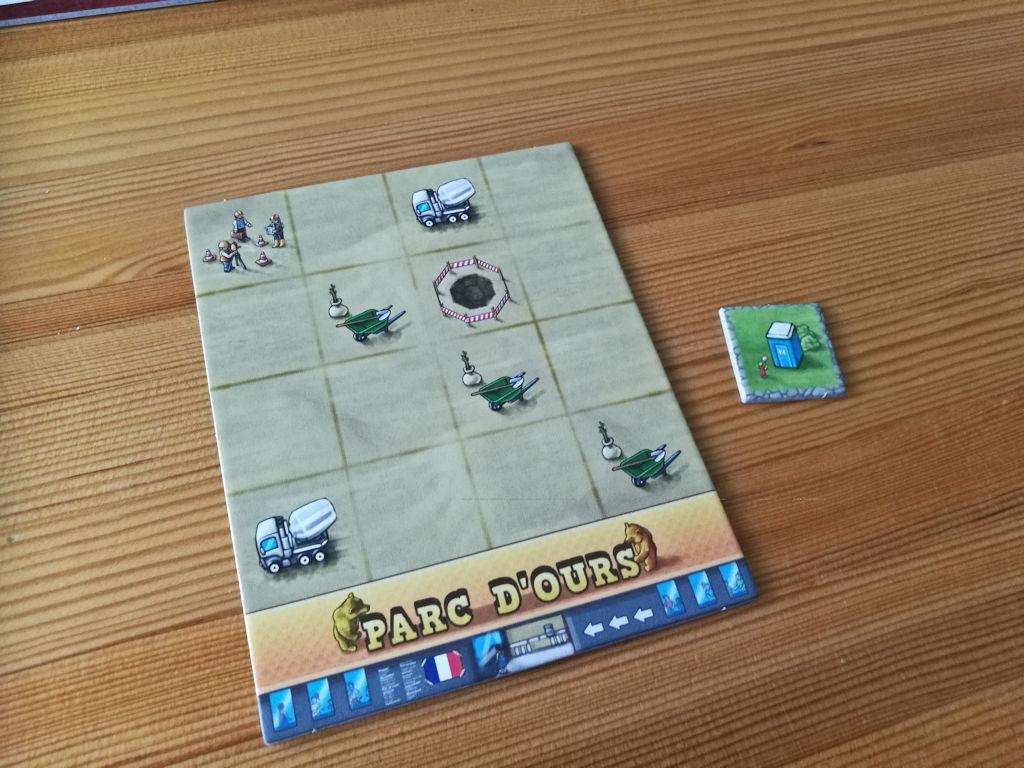 Vessalaatalla liikkeelle - aloittajalla on pelin pienin aloituslaatta.