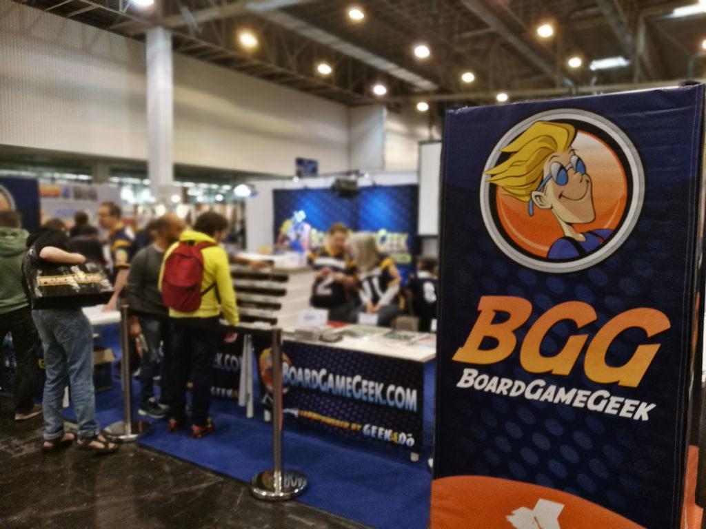 Boardgamegeekillä on perinteisesti oma osastonsa messuilla, josta he messulähetyksiä edelleen BGG:n sivuille jakoon.