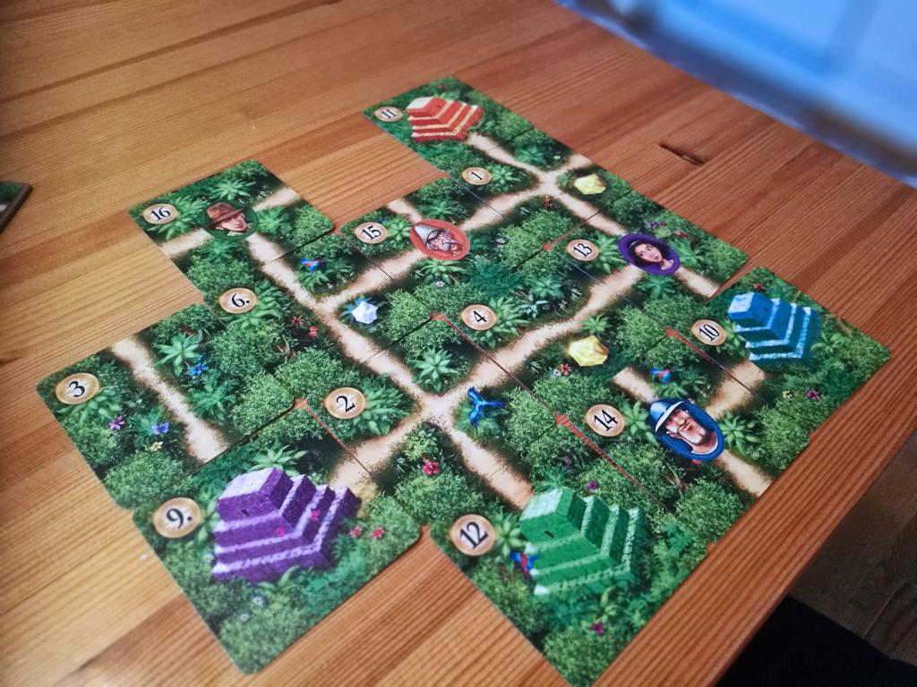 Pelaajan viidakko valmiina pistelaskuun. Kuvan suoritus on 17 pisteen arvoinen.