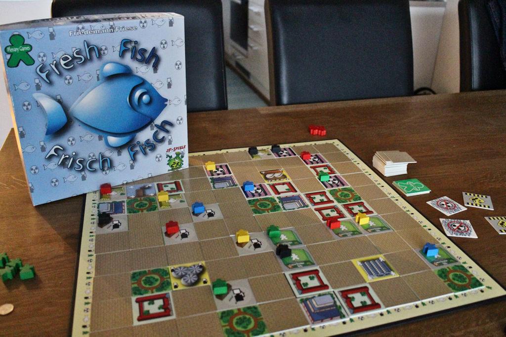 Fresh Fish - peli mahdollisimman lyhyistä kuljetusreiteistä.